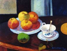 <i>Фрукты и чашка</i><b>Fruits and cup</b>